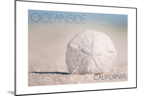 Oceanside, California - Sand Dollar on Beach-Lantern Press-Mounted Art Print
