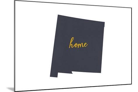 New Mexico - Home State - Gray on White-Lantern Press-Mounted Art Print