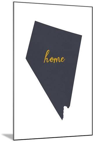 Nevada - Home State - Gray on White-Lantern Press-Mounted Art Print