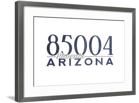 Phoenix, Arizona - 85004 Zip Code (Blue)-Lantern Press-Framed Art Print
