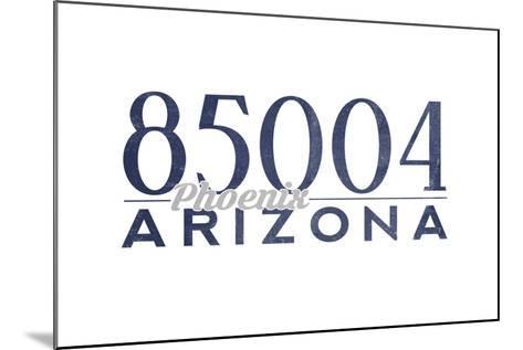 Phoenix, Arizona - 85004 Zip Code (Blue)-Lantern Press-Mounted Art Print