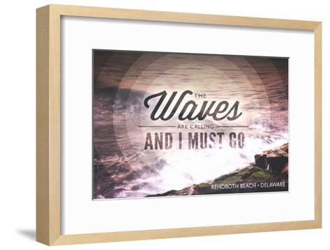 Rehoboth Beach, Delaware - the Waves are Calling - Circle-Lantern Press-Framed Art Print