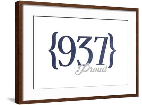 Dayton, Ohio - 937 Area Code (Blue)-Lantern Press-Framed Art Print
