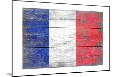 France Country Flag - Barnwood Painting-Lantern Press-Mounted Art Print