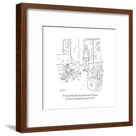 """I missed the first day of summer? I guess it's not worth going outside no - Cartoon-Kim Warp-Framed Art Print"