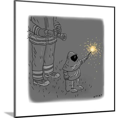 Sparkler Safety - Cartoon-Kim Warp-Mounted Premium Giclee Print