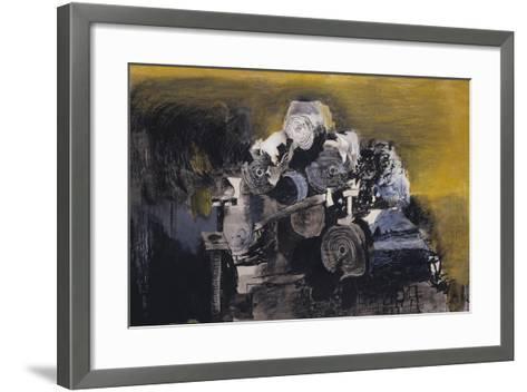 Devastation, 1941: East End, Burnt Paper Warehouse-Graham Sutherland-Framed Art Print