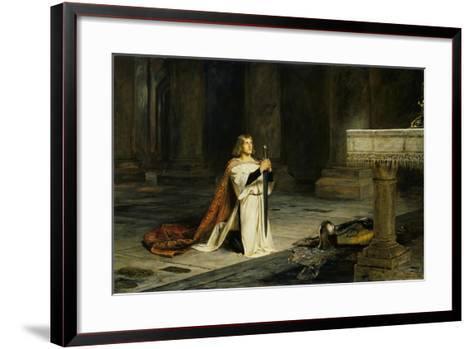 The Vigil-John Pettie-Framed Art Print