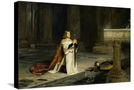 The Vigil-John Pettie-Stretched Canvas Print