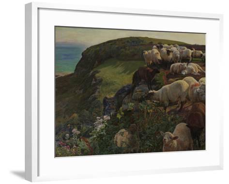 Our English Coasts, 1852 ('Strayed Sheep')-William Holman Hunt-Framed Art Print