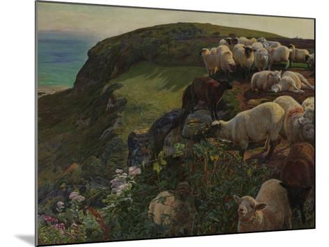 Our English Coasts, 1852 ('Strayed Sheep')-William Holman Hunt-Mounted Giclee Print
