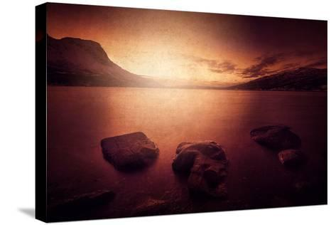 Peace in the Fjord-Philippe Sainte-Laudy-Stretched Canvas Print