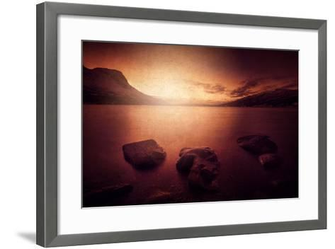 Peace in the Fjord-Philippe Sainte-Laudy-Framed Art Print