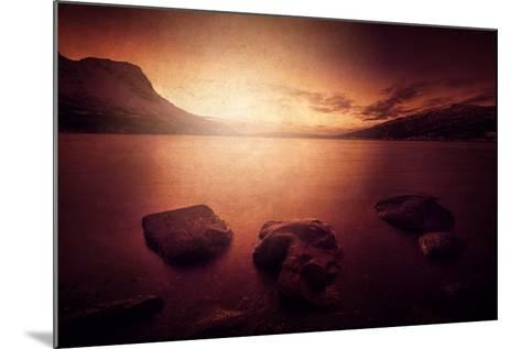 Peace in the Fjord-Philippe Sainte-Laudy-Mounted Photographic Print
