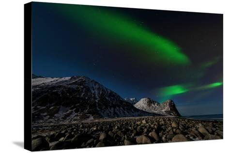 Aurora Borealis in Norway 3-Philippe Sainte-Laudy-Stretched Canvas Print