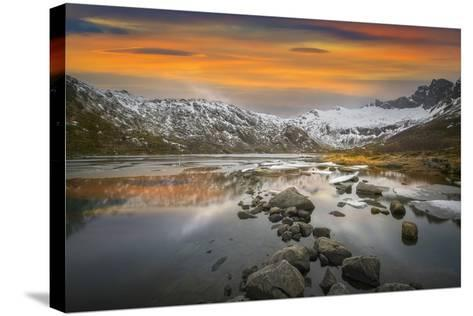 Lofoten Warm Sunset-Marco Carmassi-Stretched Canvas Print