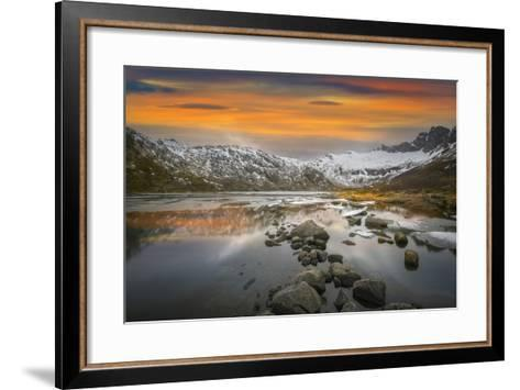 Lofoten Warm Sunset-Marco Carmassi-Framed Art Print