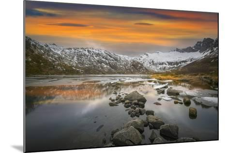 Lofoten Warm Sunset-Marco Carmassi-Mounted Photographic Print