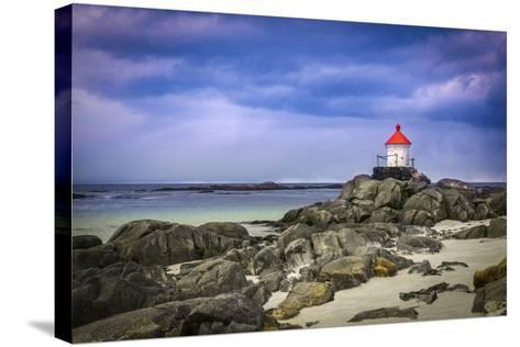 Lighthouse on Rocks-Marco Carmassi-Stretched Canvas Print