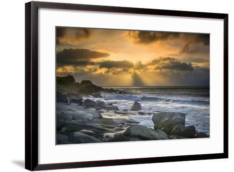 Lofoten Beach and Stones-Marco Carmassi-Framed Art Print