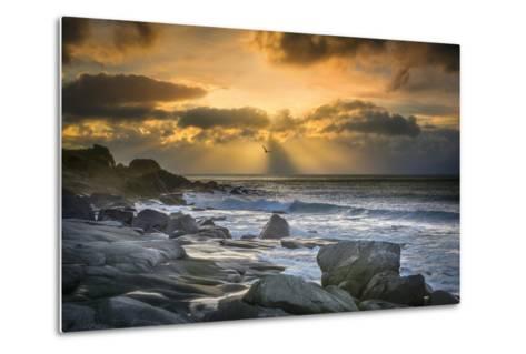 Lofoten Beach and Stones-Marco Carmassi-Metal Print