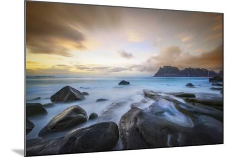 Uttakleiv Beach Before Sunset-Marco Carmassi-Mounted Photographic Print