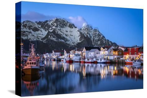 Henningsv?r the Venice of the Lofoten-Marco Carmassi-Stretched Canvas Print