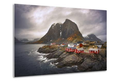 Reine Red Houses-Marco Carmassi-Metal Print