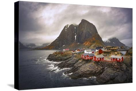 Reine Red Houses-Marco Carmassi-Stretched Canvas Print