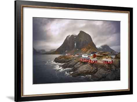 Reine Red Houses-Marco Carmassi-Framed Art Print