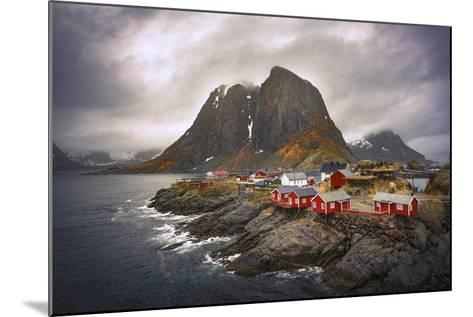 Reine Red Houses-Marco Carmassi-Mounted Photographic Print