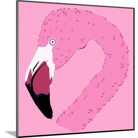 Ilustración De Un Flamingo- ali_viana_te-Mounted Art Print