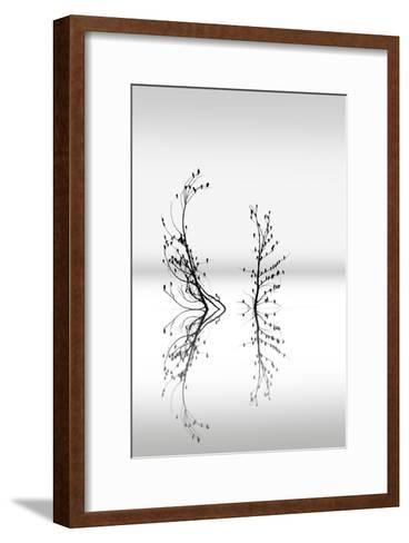 Trees With Birds 2-George Digalakis-Framed Art Print