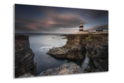 Lighthouse on Cliffs-Grzegorz Wanowicz-Metal Print