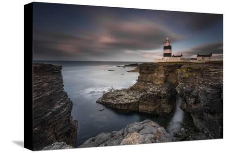 Lighthouse on Cliffs-Grzegorz Wanowicz-Stretched Canvas Print