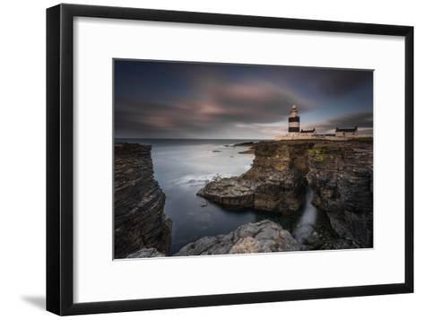 Lighthouse on Cliffs-Grzegorz Wanowicz-Framed Art Print
