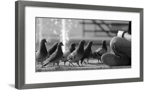On Line for Food-Jian Wang-Framed Art Print