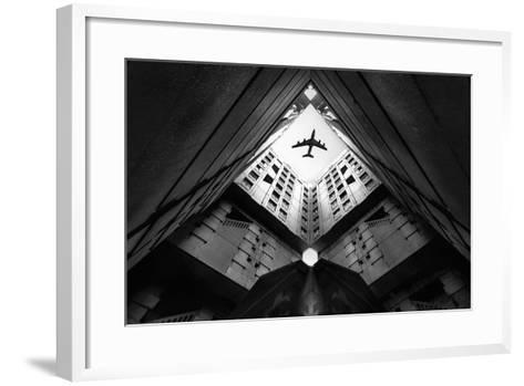 Plane City-Correy Christophe-Framed Art Print