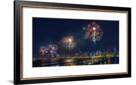 Celebration of Independence Day in Nyc-Hua Zhu-Framed Art Print