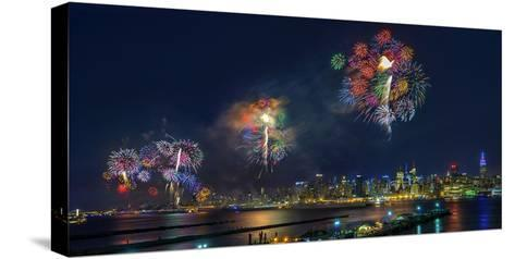Celebration of Independence Day in Nyc-Hua Zhu-Stretched Canvas Print