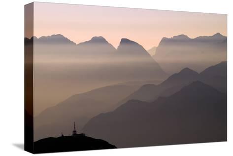 Alpine Sunset-Lorenzo Rieg-Stretched Canvas Print