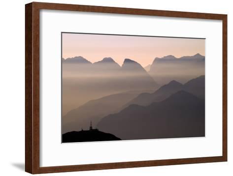 Alpine Sunset-Lorenzo Rieg-Framed Art Print