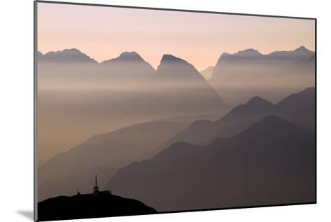 Alpine Sunset-Lorenzo Rieg-Mounted Photographic Print