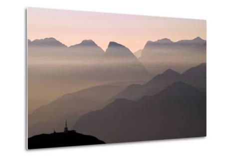Alpine Sunset-Lorenzo Rieg-Metal Print