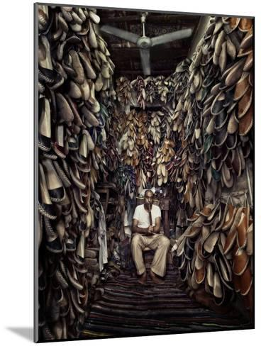 Shoes Maker-Mahmoud Fayed-Mounted Photographic Print