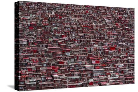 Red Houses-Ali Al-Jazeri-Stretched Canvas Print