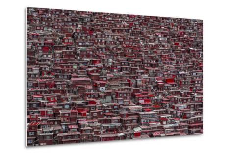 Red Houses-Ali Al-Jazeri-Metal Print