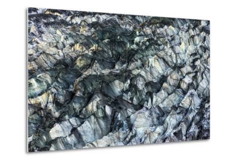 Ice Texture in Hopper Glacier- Kowit.Lee-Metal Print