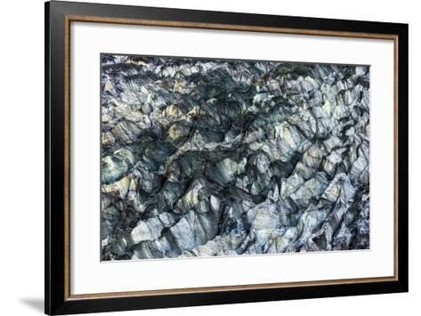 Ice Texture in Hopper Glacier- Kowit.Lee-Framed Art Print
