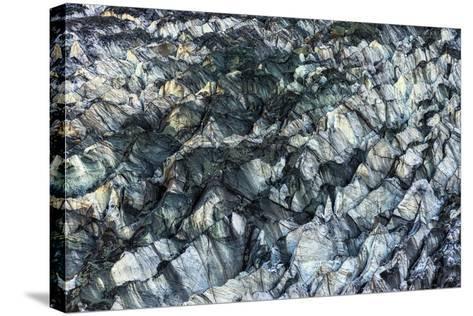 Ice Texture in Hopper Glacier- Kowit.Lee-Stretched Canvas Print